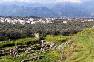 Le rovine dell'antica Sparta greca.