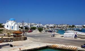 Il porto di Antiparos.