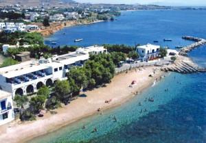 Spiaggia vicino Drios, isola di Paros.