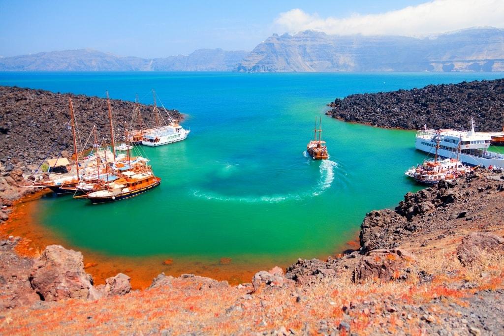 Santorini escursioni in barca.