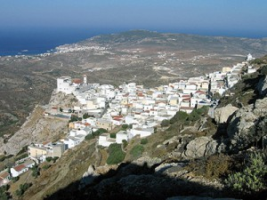 Il villaggio di Menetes a Karpathos, bellissima isola greca.