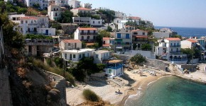 Ikaria in Grecia, villaggio di Armenistis.
