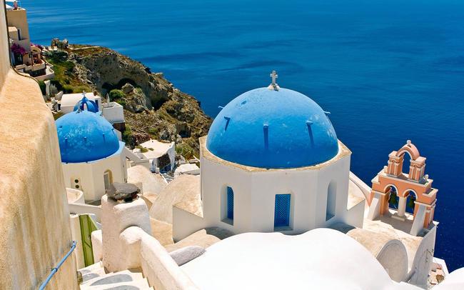 Santorini in Grecia.