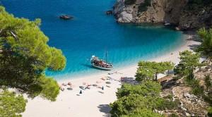 La fantastica spiaggia di Apella sull'isola greca di Karpathos.