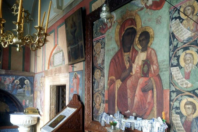 L'affresco miracoloso della Vergine Maria di Eleousa.