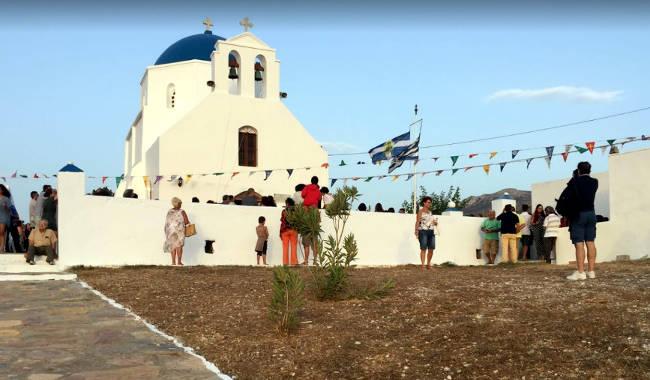 La chiesa ortodossa di Agia Paraskevi, nella parte sud-occidentale di Amorgos.