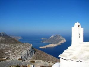 Isola di Amorgos in Grecia.