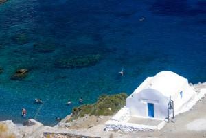 Amorgos, il mare blu intenso dove nuotare.