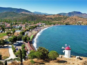 Anaxos Beach a Lesbo in Grecia.