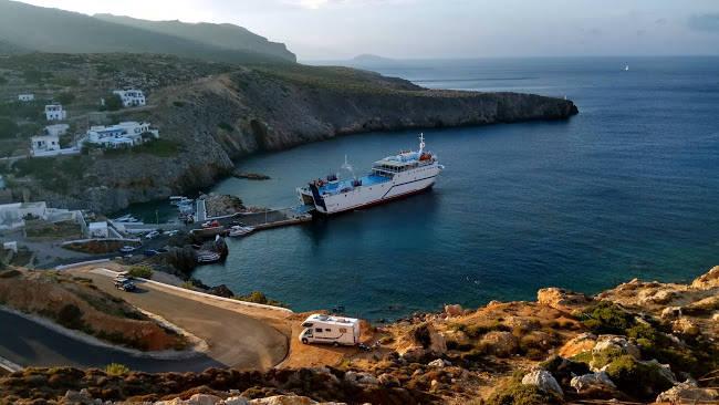 Anticitera, il piccolo villaggio di Potamos dove approdano i traghetti per Cerigotto.
