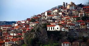 Arachova, vicino Delfi, sui Monti del Parnaso.