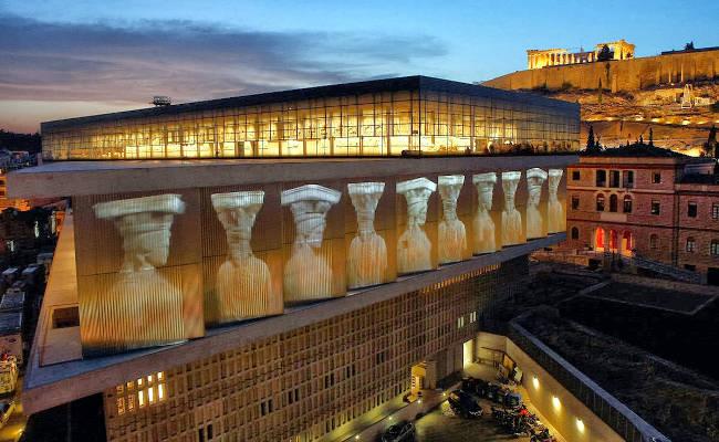 Il nuovo museo dell'Acropoli di Atene.