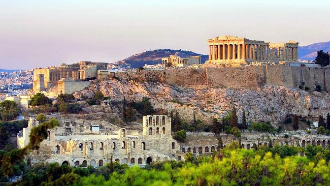 Acropoli di Atene con il Partenone.