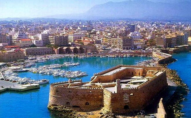 Iraklion capoluogo di Creta.