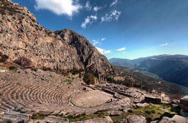 Delfi in Grecia.
