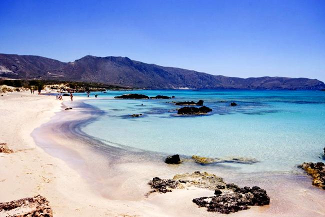 Elafonissi spiaggia di Creta.