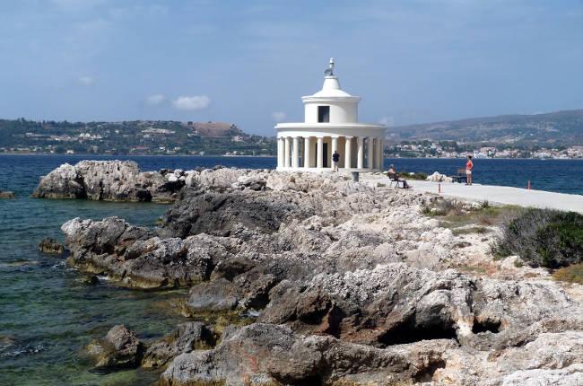 Il faro di San Teodoro ad Argostoli, sulla penisola di Lassi.
