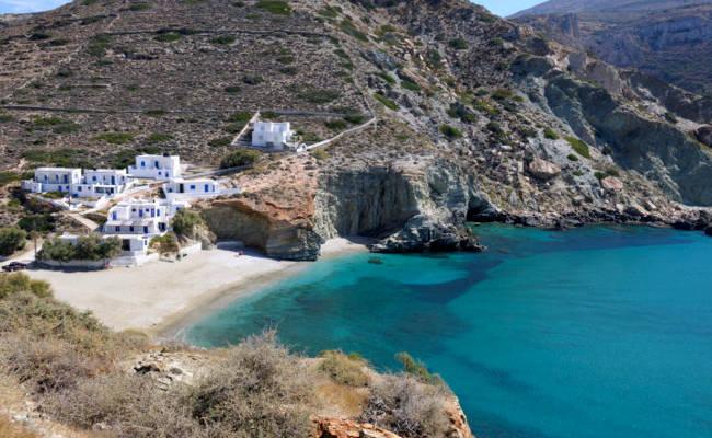 Isola di Folegandros in Grecia.