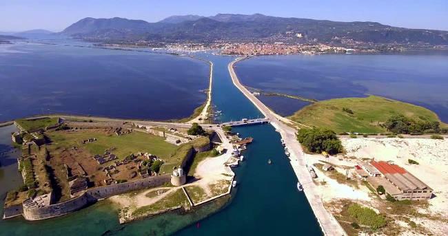 La fortezza veneziana di Santa Maura a Lefkada.