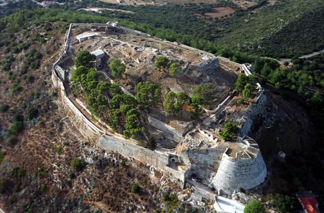 La fortezza di Agios Georgios, antico capoluogo di Cefalonia.