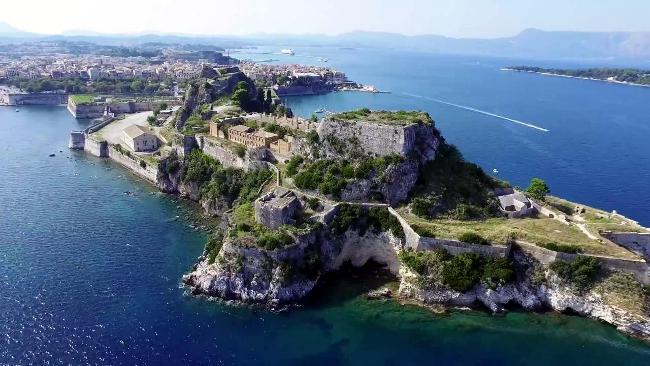 La fortezza vecchia a Corfù in Grecia.
