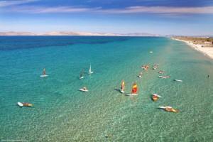 La meravigliosa spiaggia di Mastichari in Grecia, isola di Kos nel Dodecaneso.