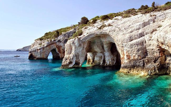 Grotte blu a Zante.