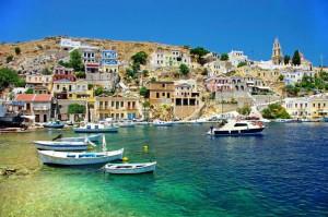 Hydra, piccolo porto e spiaggia.