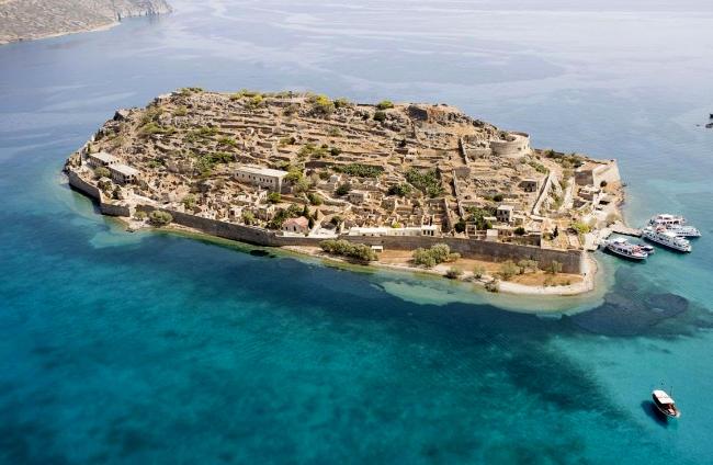Isola di Spinalonga, creta, Grecia.