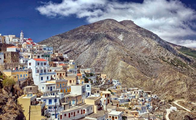 Un villaggio tradizionale della bellissima isola greca di Karpathos.