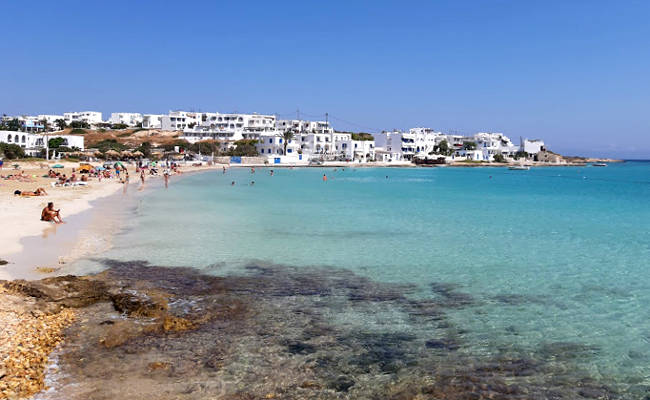 Le acque cristalline della spiaggi di Megali Ammos a Koufonisia.