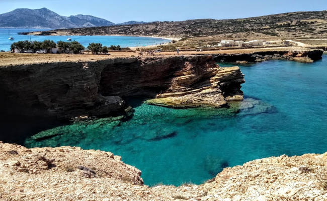 La bellezza della costa dell'isola di Ano Koufonisi.
