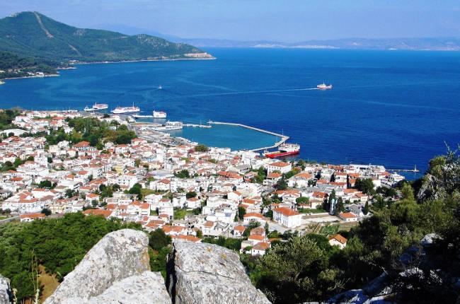 Limenas, il principale villaggio dell'isola di Thassos.