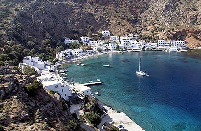 villaggio di Loutro, Creta.