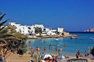 Spiaggia di Megali Ammos a Koufonissi Grecia.