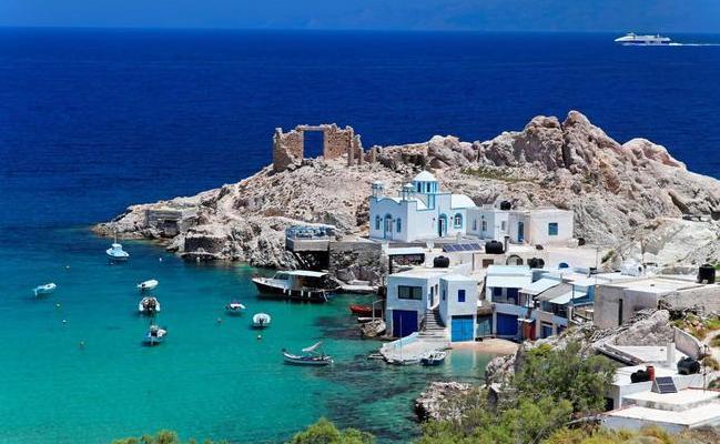 Milos, isole greca delle Cicladi.