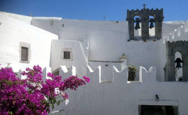 Il monastero di Zoodochos Pigi a Patmos.