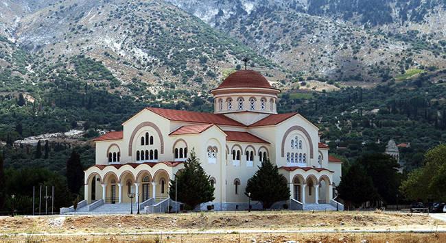 Il monastero di San Gerasimo, protettore dell'isola di Cefalonia.