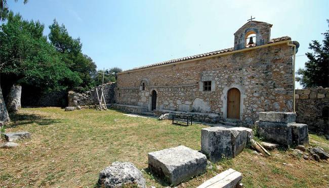 Il monastero di Agios Ioannis che sorge sul sito di un atico tempio della dea Demetra.