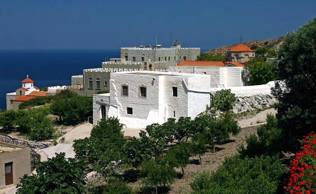 Il monastero dell'Annunciazione sull'isola di Patmos.