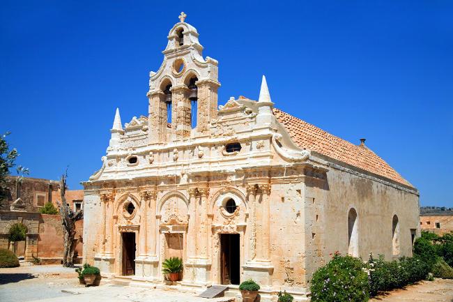 Monastero di Arkadi a Creta, Grecia.