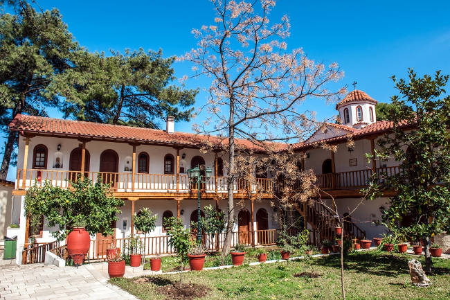 Il monastero di Panagia Faneromeni a Lefkada.