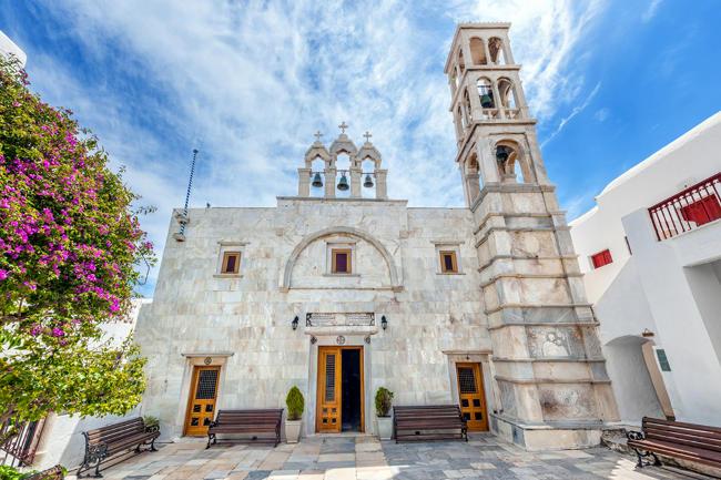 chiesa di Panagia Tourliani a Mykonos.