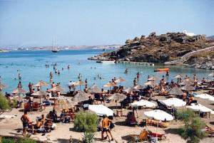 Monastiri beach a Paros.