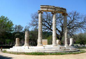 Il sito archeologico dell'antica Olimpia in Grecia.