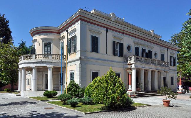 Il Palazzo di Mon Repos isola di Corfù.