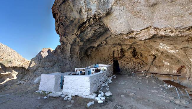 La cappella di Panagia Kakkaviotissa è una delle più emozionanti dell'Egeo.