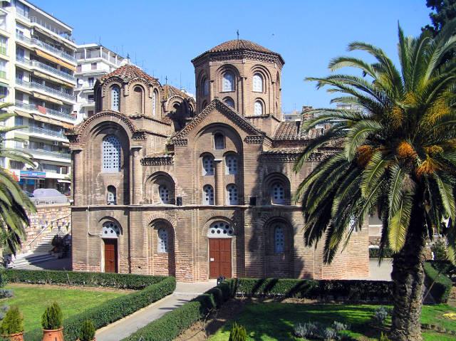 La chiesa bizantina di Panagia Chalkeon da visitare a Salonicco.