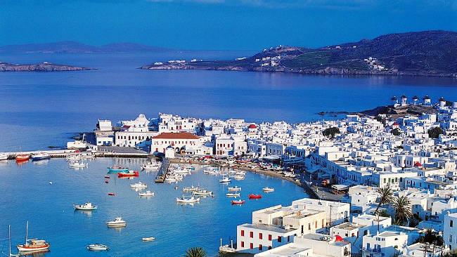 L'isola greca di Paros nelle Cicladi centrali.