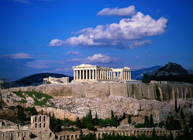 Il Partenone di Atene.
